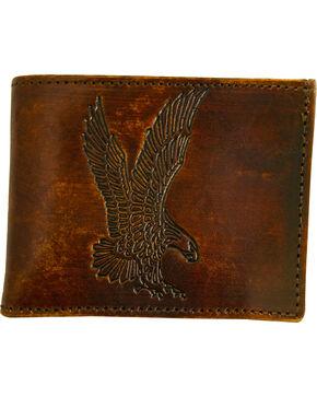 Western Express Men's Brown Leather Eagle Billfold , Brown, hi-res