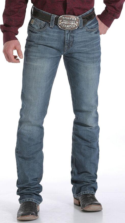Cinch Men's Indigo Ian Mid Rise Cross Stitch Jeans - Slim Boot, Indigo, hi-res