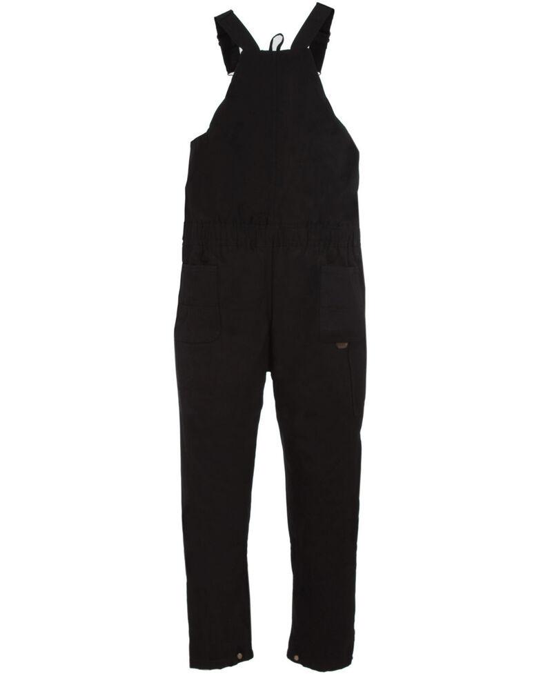 Berne Men's Brown Duck Deluxe Insulated Bib Overalls - 1X Big, Black, hi-res