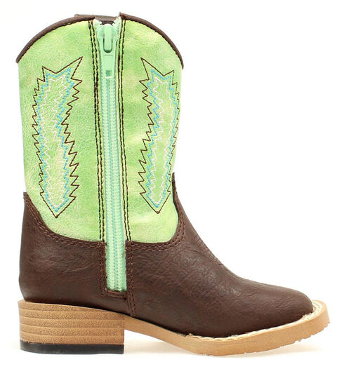 Double Barrel Toddler Boys' Wyatt Boots - Square Toe, Brown, hi-res