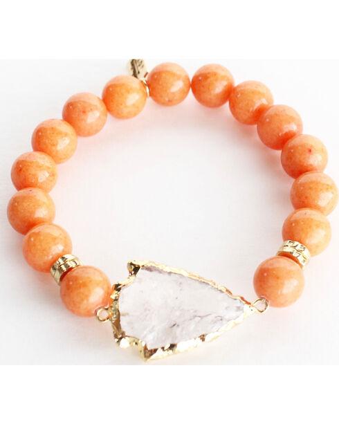 Everlasting Joy Jewelry Women's Tangerine Arrowhead Bracelet , Orange, hi-res