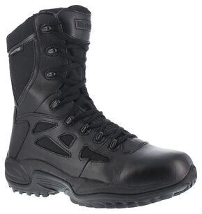 "Reebok Women's Rapid Response 8"" Work Boots, Black, hi-res"
