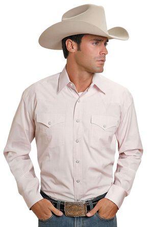 Stetson Snap Check Shirt, Pink, hi-res