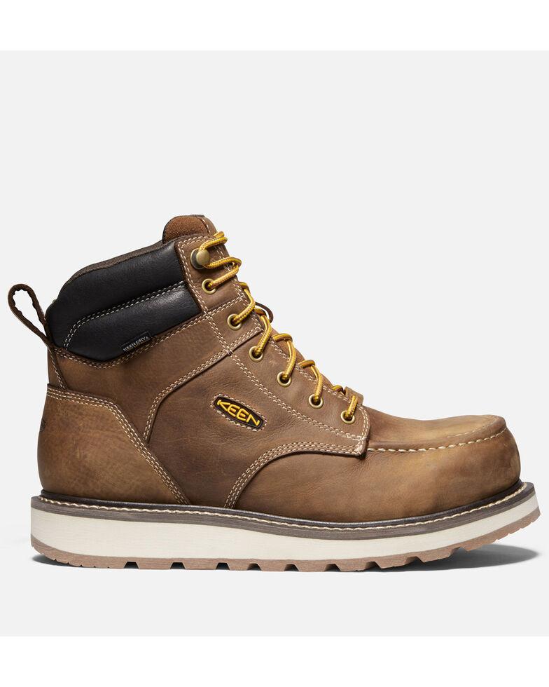 """Keen Men's Cincinnati 6"""" Waterproof Carbon-Fiber Work Boots - Safety Toe, Brown, hi-res"""