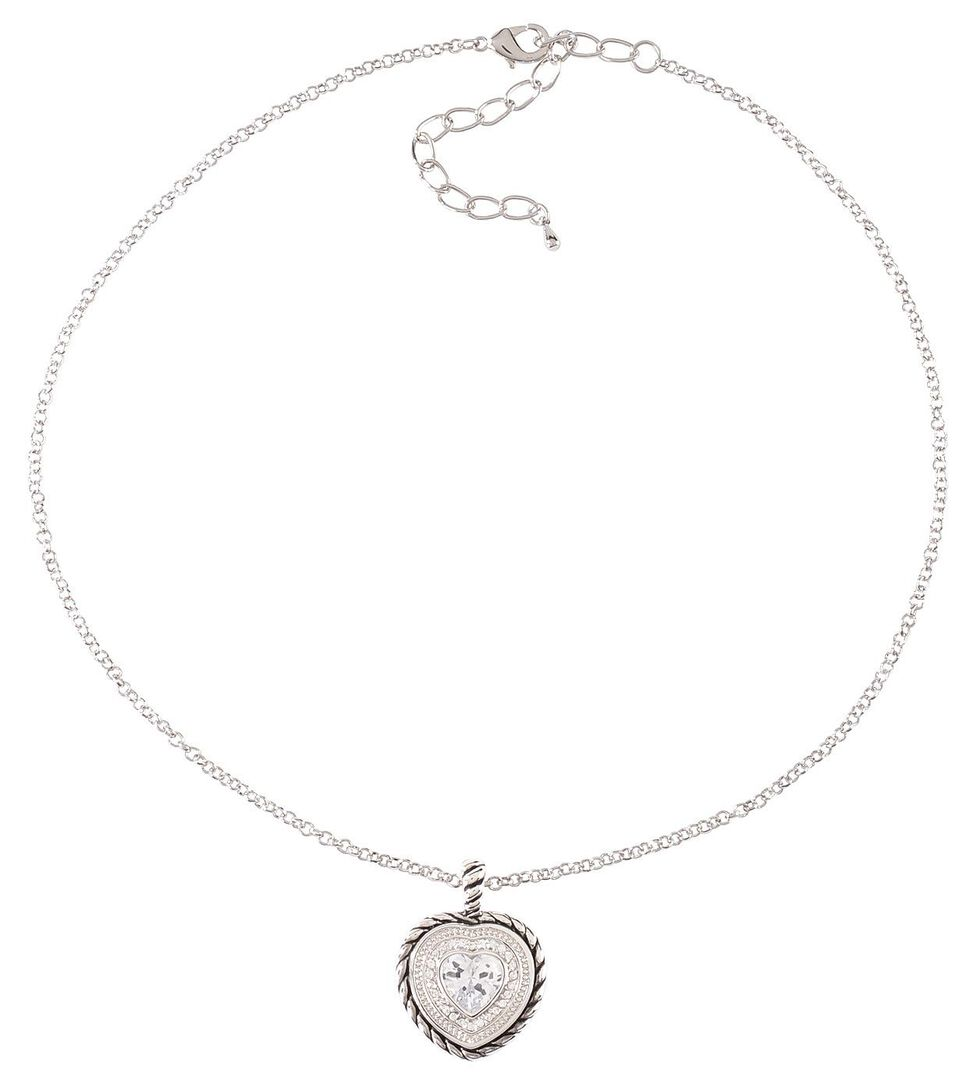 Montana Silversmiths Heart Charm Necklace, Silver, hi-res