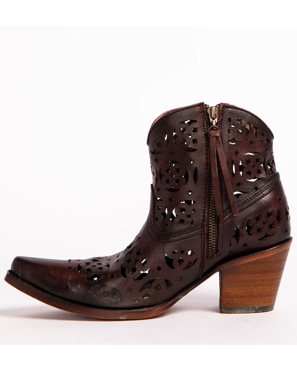 Corral Women's Cutout Boots - Snip Toe, Wine, hi-res