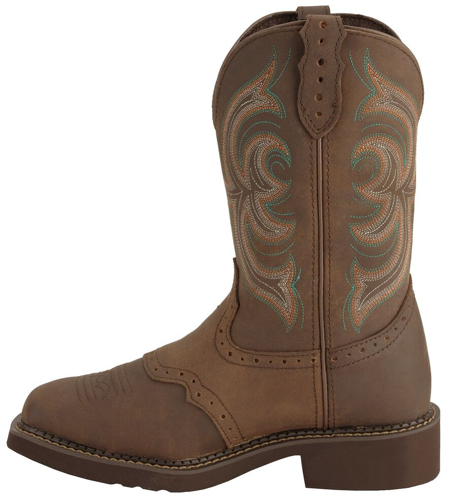 Justin Gypsy Women's Inji Brown Cowgirl Boots - Square Toe, Bark, hi-res