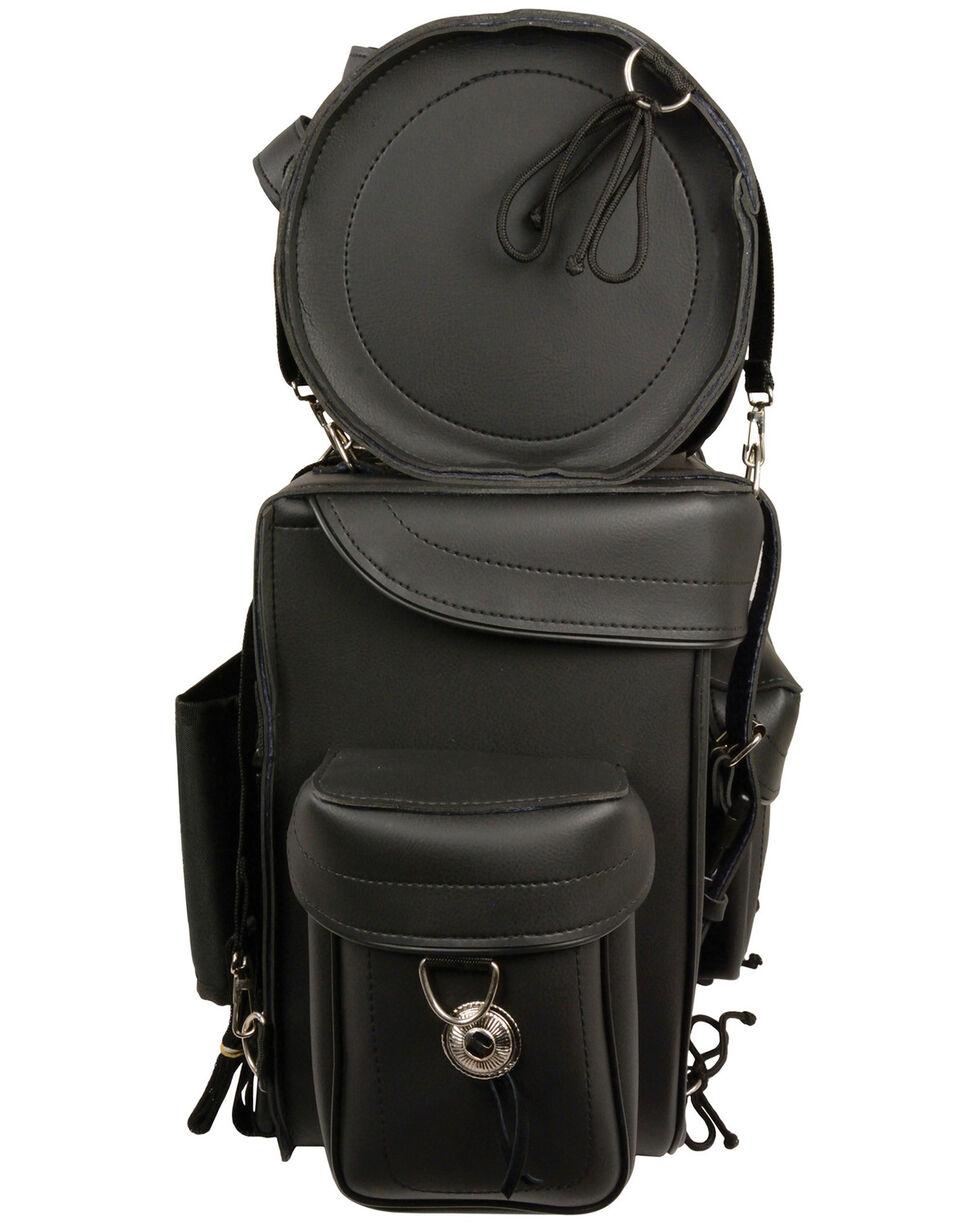 Milwaukee Leather Large 2 Piece PVC Touring Sissy Bar Pack , Black, hi-res