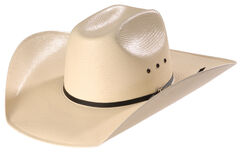 Twister Shantung Straw Cowboy Hat , Natural, hi-res