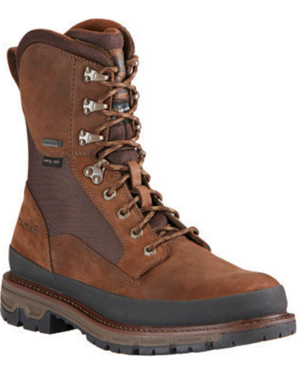 Ariat Men's Insulated Conquest Waterproof Hunting Boots - Round Toe, Brown, hi-res