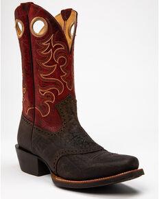 Cody James Men's Chocolate Bullhide Western Boots - Square Toe, Chocolate, hi-res