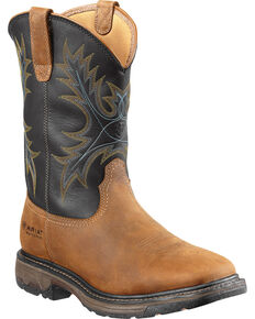 Ariat Workhog Waterproof Work Boots - Steel Toe, Aged Bark, hi-res