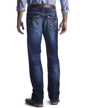 Ariat Men's Indigo M4 Jake Roundup Jeans - Boot Cut , Indigo, hi-res