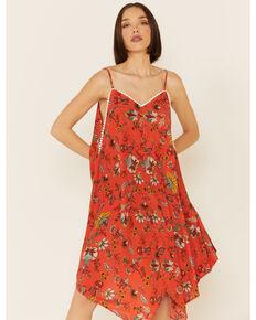 Molly Bracken Women's Floral Print Hanky Dress, Red, hi-res