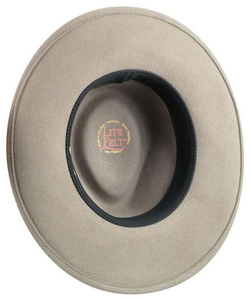 Bailey Men's Eustace Wool Felt Outback Hat, Grey, hi-res