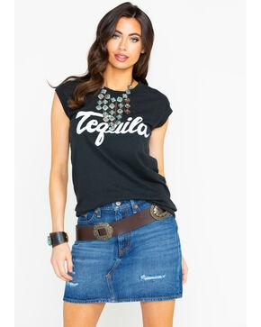 Bandit Women's Tequila Graphic Tour Muscle Tank, Black, hi-res