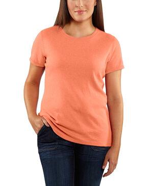 Carhartt Women's Calumet Peach Crewneck Tee, Peach, hi-res