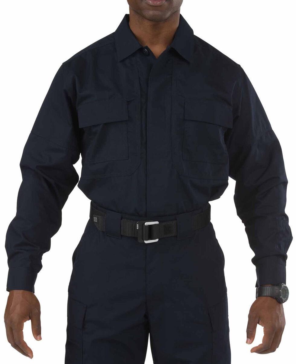 5.11 Tactical Taclite TDU Long Sleeve Shirt - 3XL and 4XL, Navy, hi-res