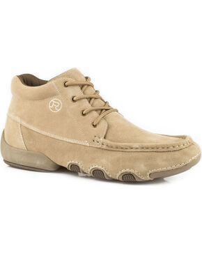 Roper Men's Tan 4 Eyelet Chukka Driving Moc Shoes , Tan, hi-res