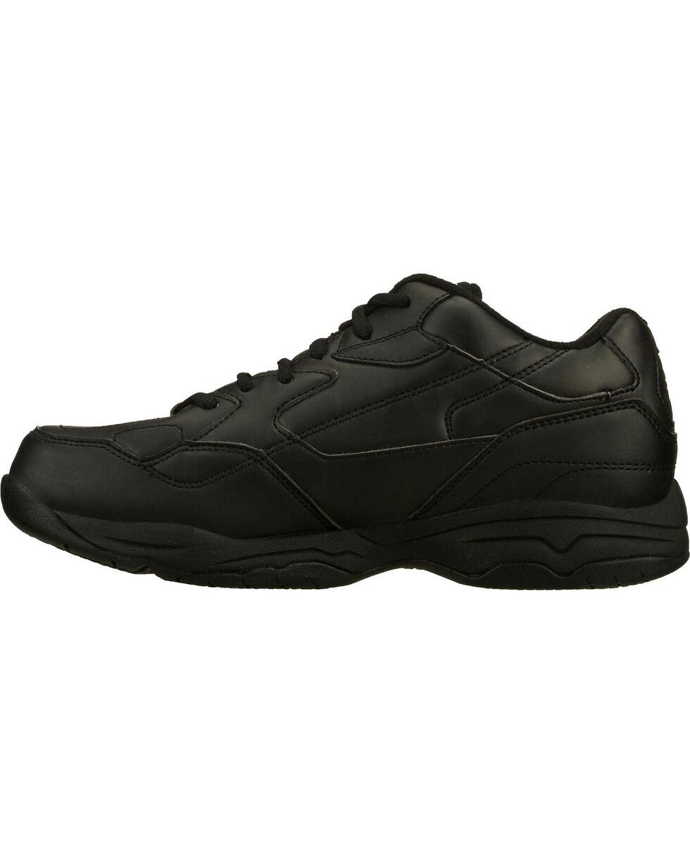 Skechers Women's Black Felton Albie Slip Resistant Work Shoes , Black, hi-res