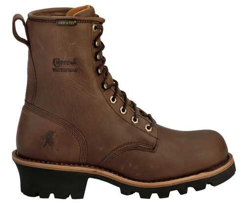 """Chippewa Women's Waterproof Insulated 8"""" Logger Boots - Steel Toe, Bay Apache, hi-res"""