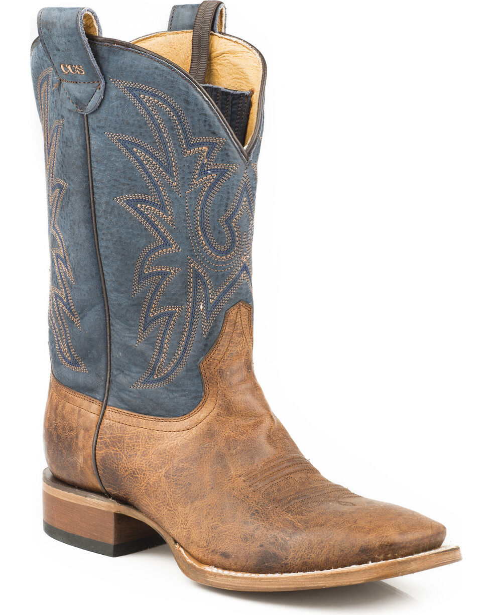 Roper Men's Sidewinder Concealed Carry System Cowboy Boots - Square Toe, Tan, hi-res