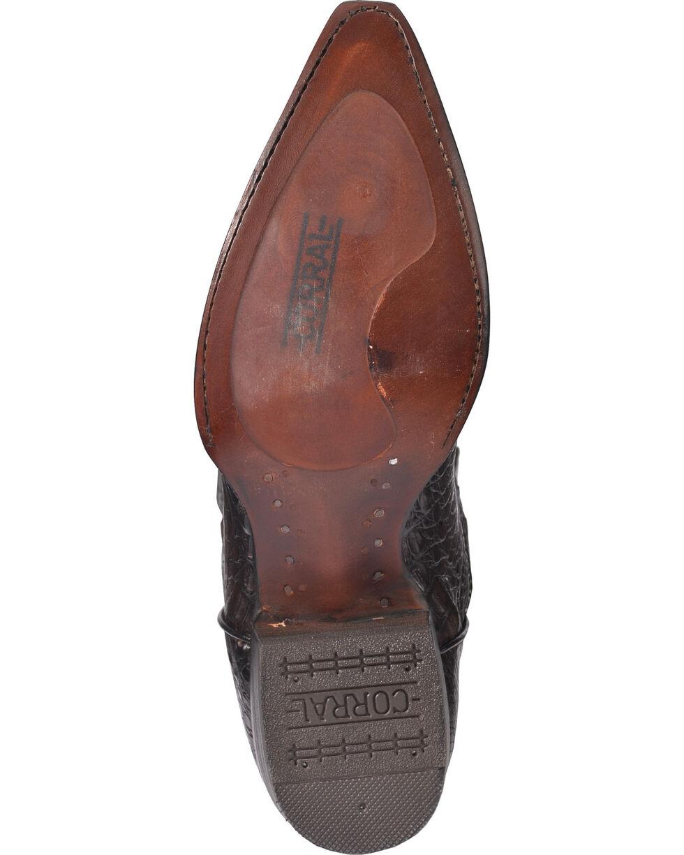 Corral Men's Grey Caiman Laser Cutout Cowboy Boots - Snip Toe, Grey, hi-res