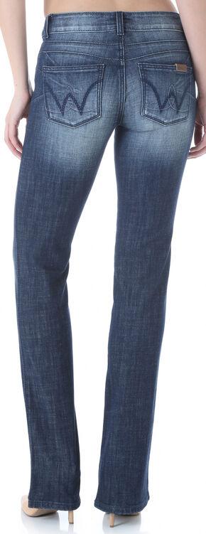 Wrangler Women's Mae Booty Up Bootcut Jeans, Dark Blue, hi-res