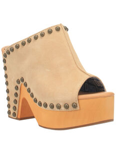 Dingo Women's Peace N' Love Fashion Booties - Round Toe, Natural, hi-res