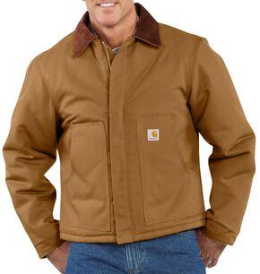 Carhartt Duck Traditional Jacket - Big & Tall, Brown, hi-res