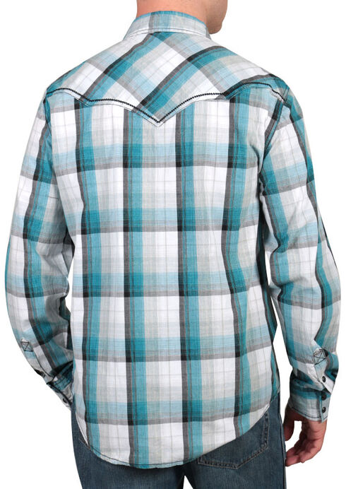 Moonshine Spirit Men's Banderas Western Shirt, Blue, hi-res