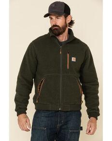 Carhartt Men's Olive Green Fleece Work Jacket , Olive, hi-res