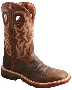 Twisted X Men's Waterproof Western Work Boots - Alloy Toe, Brown, hi-res