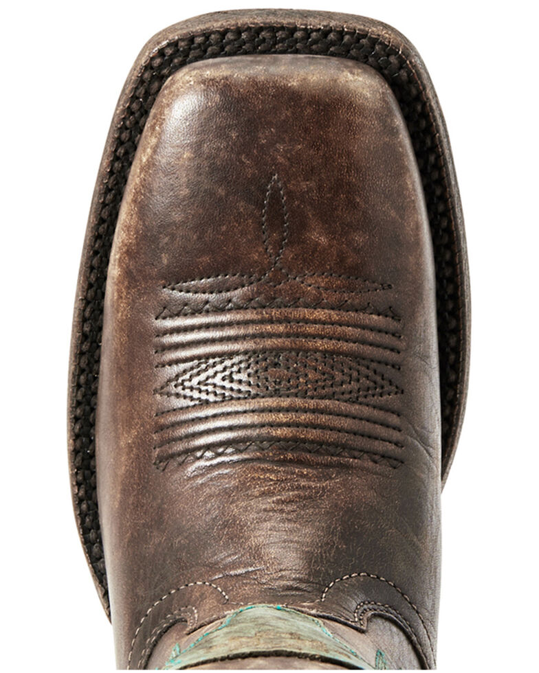 Ariat Women's Tallahassee Naturally Distressed Western Boots - Wide Square Toe, Brown, hi-res