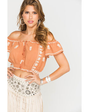 Sage the Label Women's Farrah Crop Top , Cognac, hi-res