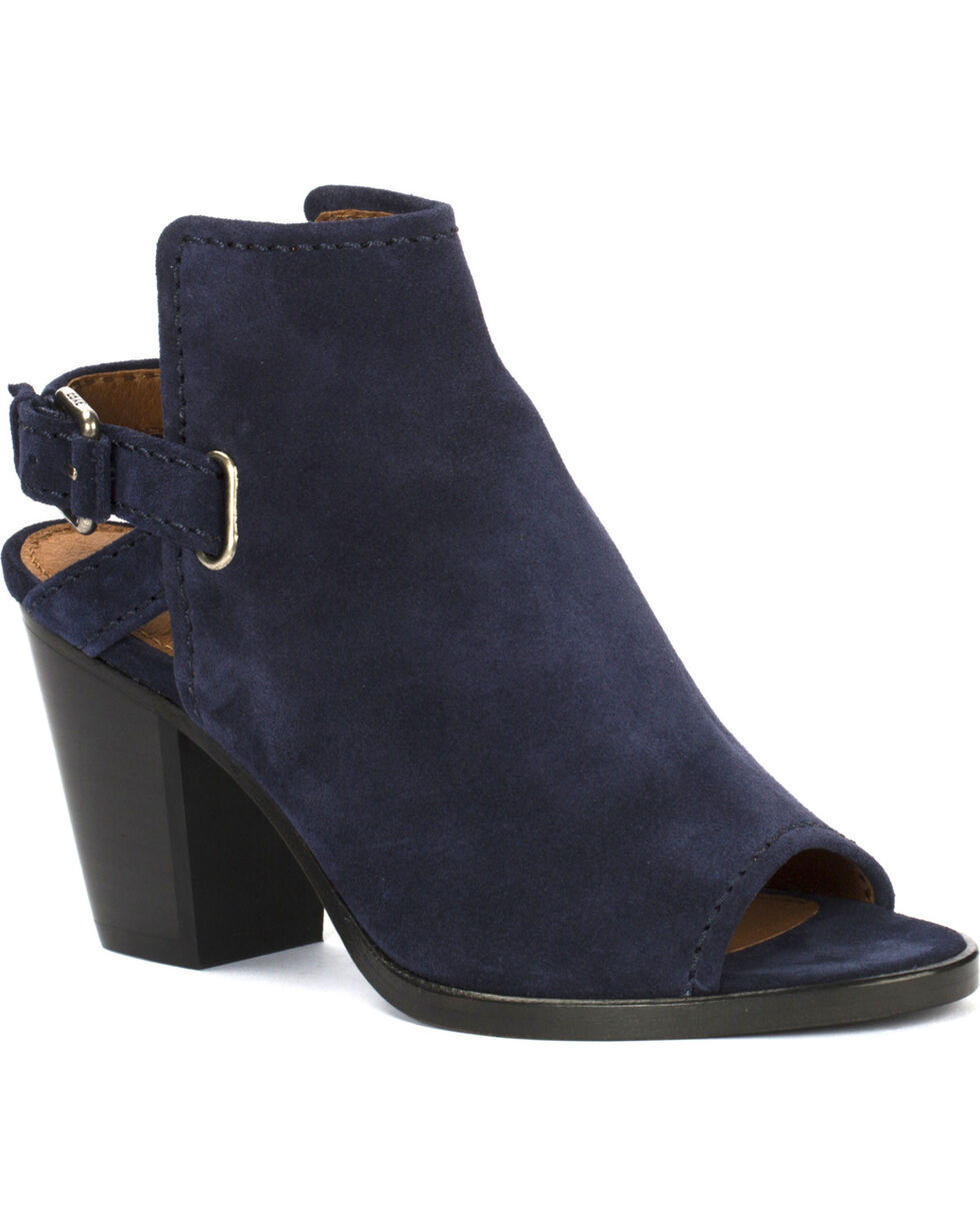 Frye Women's Navy Dani Shield Sling Shoes , Navy, hi-res