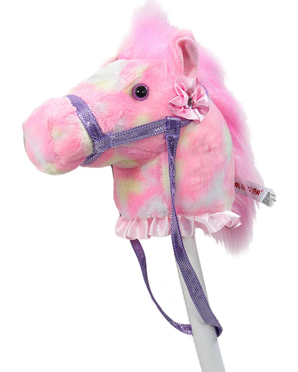 Aurora Fantasy Pony Rainbow Stick Horse, Pink, hi-res