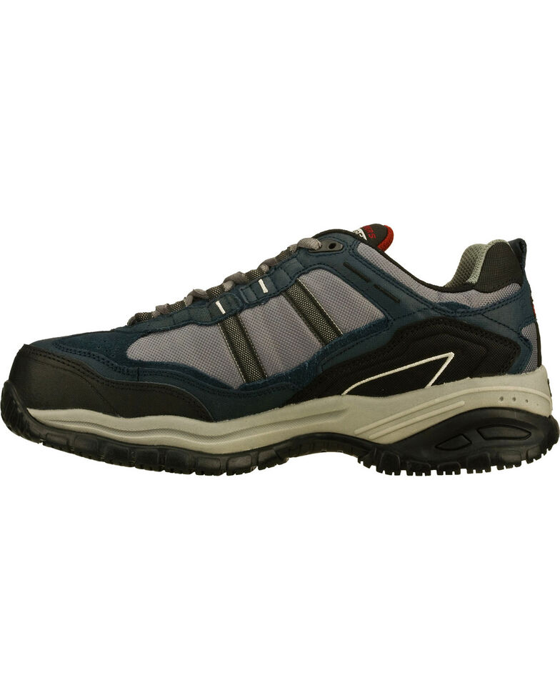 Skechers Men's Navy Soft Stride Grinnell Slip Resistant Work Shoes - Comp Toe, Navy, hi-res