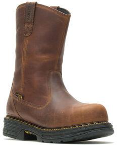 Wolverine Men's Hellcat Waterproof Western Work Boots - Composite Toe, Brown, hi-res