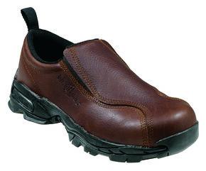 Nautilus Men's Static Dissipative Slip-On Work Shoes - Steel Toe, Brown, hi-res