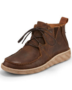 Tony Lama Men's Estancia Tan Shoes - Moc Toe, Tan, hi-res