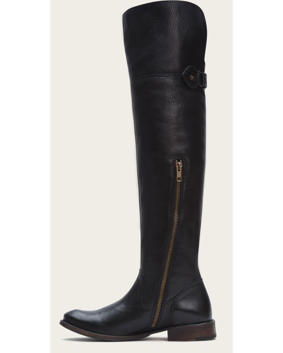 Frye Women's Black Leather Shirley OTK Tall Boots - Round Toe , Black, hi-res