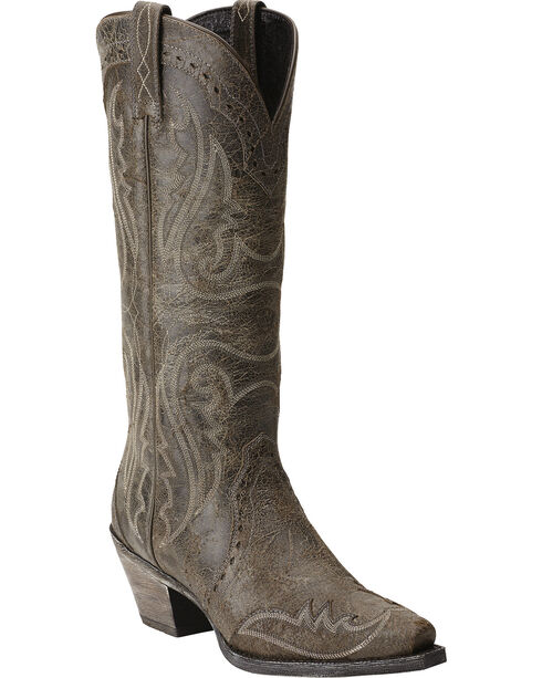 Ariat Heritage Western Wingtip Cowgirl Boots - Snip Toe, Slate, hi-res