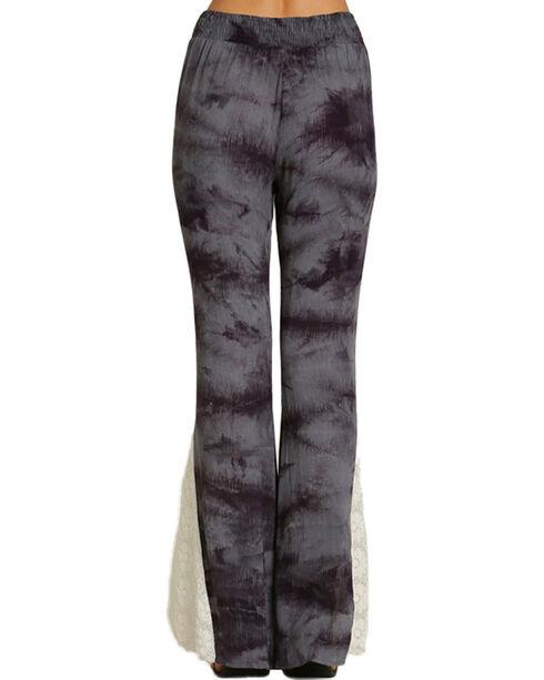 Umgee Women's Bold Print Tie Dye Pants, Grey, hi-res
