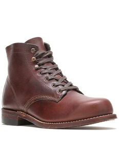 Wolverine Men's 1000 Mile Rust Lace-Up Boots - Round Toe, Rust Copper, hi-res