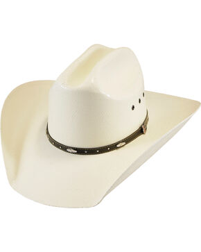 Justin Boys' Ivory Black Hills Jr Straw Hat , Ivory, hi-res