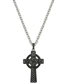 Montana Silversmiths St. Patrick's Cross Necklace, Silver, hi-res