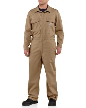 Carhartt Flame Resistant Classic Twill Coveralls - Big & Tall, Khaki, hi-res