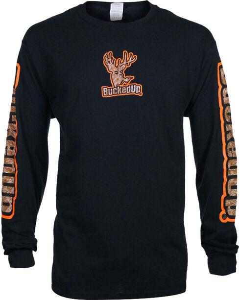 Bucked Up Men's Logo Graphic Long Sleeve T-shirt - Big , Black, hi-res
