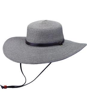 """Peter Grimm Coralia 4 1/2"""" Charcoal Sun Hat, Charcoal Grey, hi-res"""